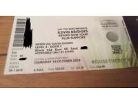 Kevin Bridges Brand New Tour Tickets x2 - Glasgow Thursday 18 October