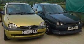 Two Vauxhall Corsas