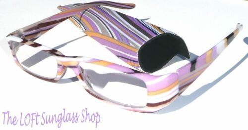 Womens fashion reading glasses colorful cute! R529a-1.25 spring temples w/ case