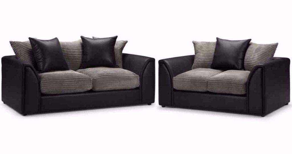 💖💖Left/Right Hand Facing💖 Brand New Italian Byron Jumbo Cord + Leather Sofa💖Corner or 3+2 Seater