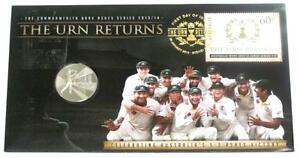 2014 THE URN RETURNS AUSTRALIA Vs ENGLAND ASHES CRICKET PNC STAMP COIN COVER