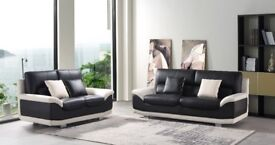 LEATHER SOFA 3+2 MATRIX, ONLY £599 FREE COFFEE TABLE LTD TIME OFFER, BRAND NEW EXCLUSIVE DESIGN,