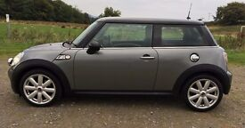 MINI COOPERS S 2007 Grey with Piano black roof Mot March 2017, Pepper pack, VGC £3800