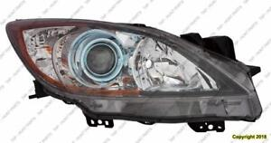 Head Light Passenger Side Halogen (6 Speed With Blue Projector Bezel) High Quality Mazda 3 2012-2013