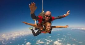 Tandem Skydive for 2 only £150 per person!