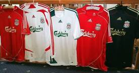 5 x official Liverpool football shirts