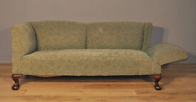 Attractive Large Antique Victorian Drop End Sofa Couch Settee For Reupholstery