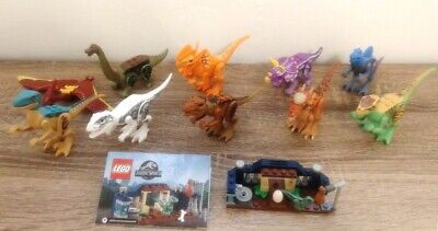 Lego LOT of 11 Jurassic Park World Dinosaurs Mini Figures Stygimoloch Indo Rex+