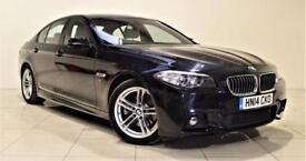 BMW 5 SERIES 2.0 520D M SPORT 4d AUTO 181 BHP + SAT NAV + AIR C (black) 2014