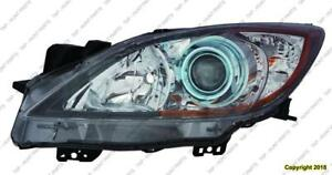 Head Light Driver Side Halogen (6 Speed With Blue Projector Bezel) High Quality Mazda 3 2012-2013