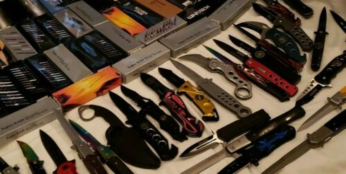 10 Mixed Knife Lot - Store Liquidation - All Modern Styles - Factory Manufacture