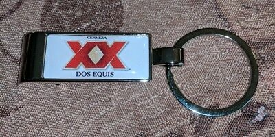 DOS EQUIS BEER BOTTLE OPENER KEY CHAIN KEYCHAIN RING KEYRING ALCOHOL ADVERTISING