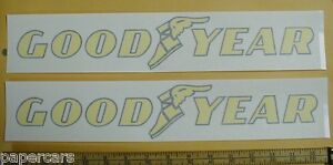PAIR Goodyear tires Contingency NASCAR Shop Stock Car Drag Racing Sticker Decals