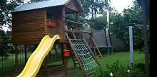Timber Cubby house, Swings,  Monkey Bars, Trampoline Northmead Parramatta Area Preview