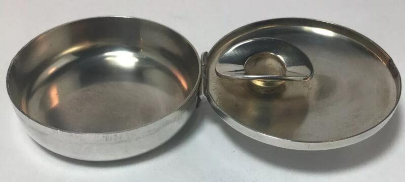 Sterling Silver Travel Portable Cigar Ash Tray Folding Frying Pan Form