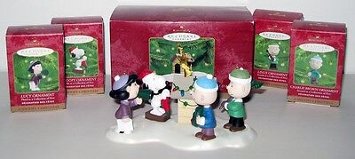 2000~HALLMARK~PEANUTS~A SNOOPY CHRISTMAS~COMPLETE SET