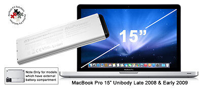 NewerTech MacBook Pro 15-inch Laptop Battery for Unibody Late 2008 / Initially 2009