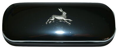 Hare Chrome Glasses Case Novelty Gift Boxed Pewter Emblem Reading Animal