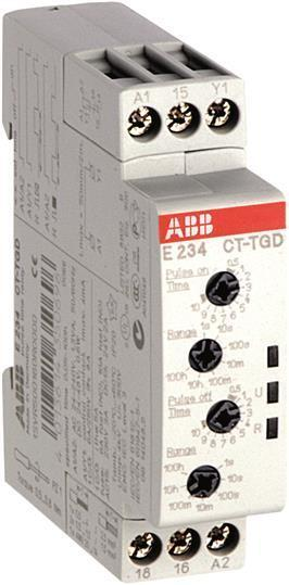 ABB CT-TGD.12 Time relay, pulse generator 1c/o, 24-240VAC 24-48V 1SVR500160R0000