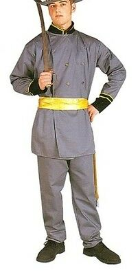 LEE ADULT COSTUME CIVIL WAR SOLDIER CAPTAIN YELLOW GREY (General Lee Kostüm)