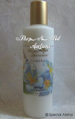 (Hawaiian PLUMERIA BODY LOTION By ROYAL HAWAIIAN Hawaii New 8oz  Aloha Floral Lei)