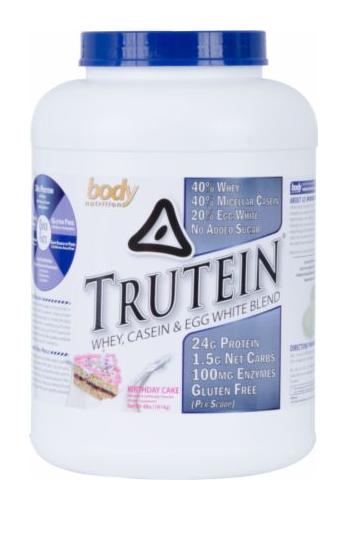 Body Nutrition Trutein Casein and Egg Protein Powder 4 Lbs.