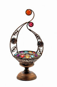 NEW-MOROCCAN-LAMP-TEA-LIGHT-CANDLE-HOLDER-WITH-ATTRACTIVE-GLASS-GEMS