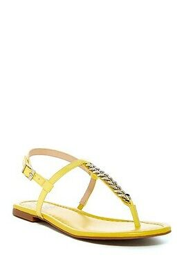 VINCE CAMUTO MORA THONG TOE CHAIN LINK SANDAL DAFFODIL YELLOW 7.5M A $98 VALUE   Chain Link Thong