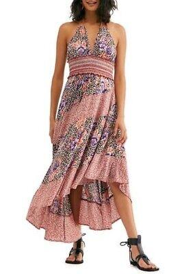 Free People Womens Gabriela Halter Slip Dress in TerraCotta Choose Size $118 Halter Slip Dress