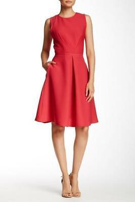 JULIA JORDAN SLEEVELESS TUCK FRONT DRESS Red UK 14 LN005 BB 05