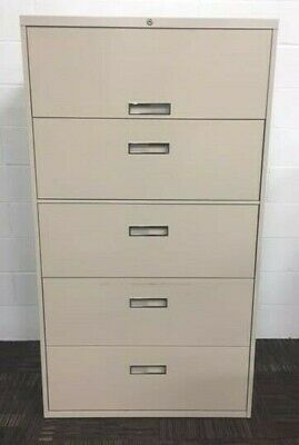 Steelcase 5 Drawer Lateral Filing Cabinet. Lock Key. Pickup Near San Diego Ca