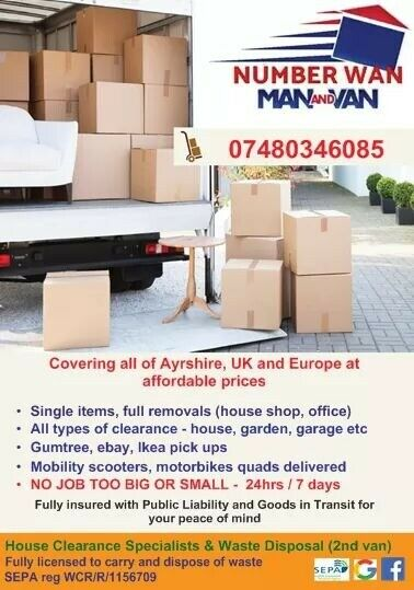 6a1bb05e9d Number Wan - Man   Van CALL FOR THE BEST PRICE IN AYRSHIRE