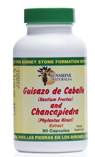 GUISAZO DE CABALLO AND CHANCAPIEDRA 1000MG  90 CAPSULES SUNSHINE NATURALS fast 1