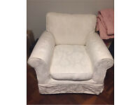 2 x White Marks and Spencer Armchairs