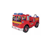 Fireman Sam 6V Electric Battery Operated Jupiter Ride On Fire Engine