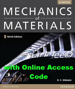 NEW 3 Days AUS Mechanics Of Materials w/ Access Code 9E R.C Hibbeler 9th Edition