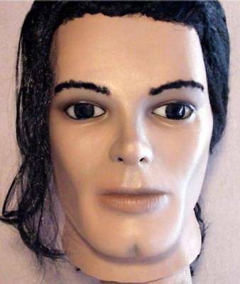 MICHAEL JACKSON LATEX MASK -- Costume Prop Cosplay Pop Thriller Bust Halloween ! - Michael Jackson Thriller Mask