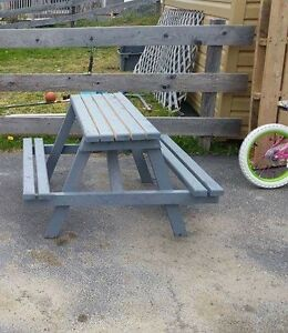 Kid size picnic table  located in carbonear