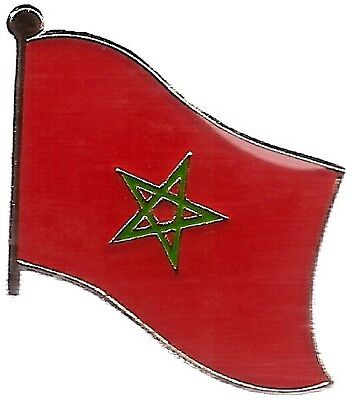 LOT OF 12 Morocco Flag Lapel Pins - Moroccan Flag Pin