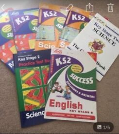 ks2 workbooks for science,maths and english