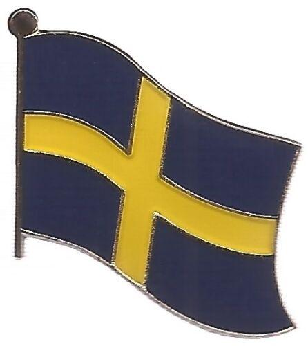 LOT OF 12 Sweden Flag Lapel Pins - Swedish Flag Pin
