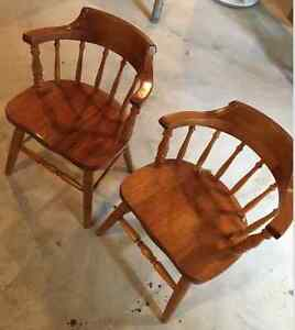 NEW PRICE! GEORGEOUS SET OF 6 SOLID CAPTAIN'S CHAIRS!!