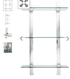 Next Moderna 3 tier glass shelf bathroom RRP £55