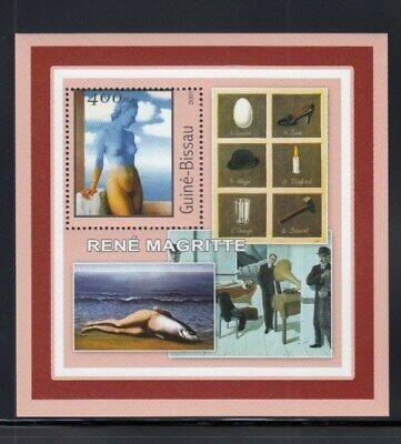 GUINEA-BISSAU René Magritte, Artist MNH souvenir sheet