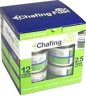 12 CHAFING DISH FUEL GEL CANS 2.5 HOUR BURN TIME EACH – CATERERS CHAFING TINS Chafing Dish Fuel