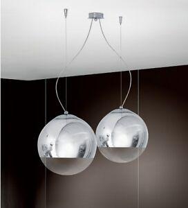 Lampadario lampada sospensione cromo design moderno sfere ...