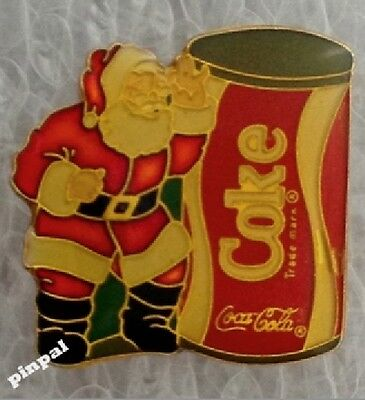 Coca Cola Lapel Pin~Vintage 1986~Santa Clause~Coke Can