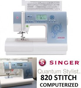 NEW SINGER QUANTUM STYLIST 820 STITCH COMPUTERIZED SEWING MACHIN