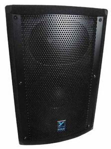 2x yorkville EF500p powered speakers 1000w carpeted, Work good