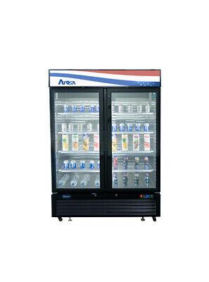 Atosa Mcf8723gr 44 Cu Ft 2 Glass Door Refrigerated Merchandiser Free Lift Gate